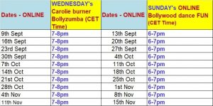 September Online classes navras